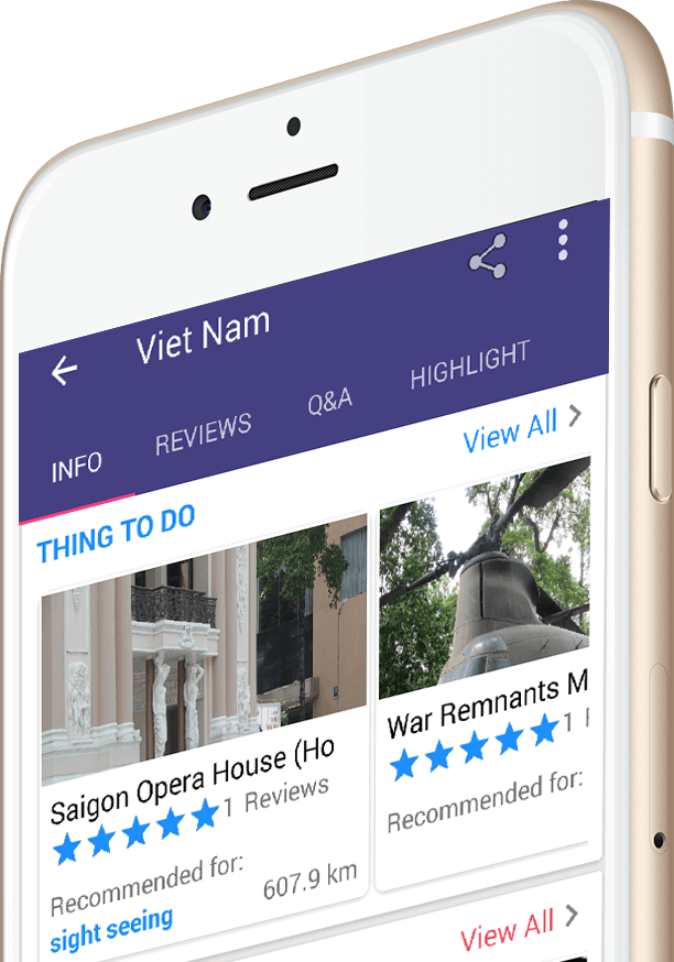 inDanang Danang Guide App on iPhone